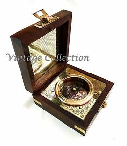 Antique Nautical Brass Magnetic Compass-Antique Gift Compass- Birthday Day Gift