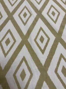 Beacon Hill Lalu Ikat 226101 Chartreuse Diamond Geometric Fabric By The Metre