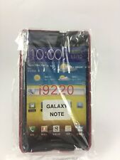 Brand New Samsung Galaxy Note N7000 Red Snake Skin Effect Hard Case