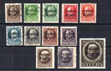 German State Bavaria 1919-20 Scott# 193/211. Freistaat Bayern Overprints. Used.