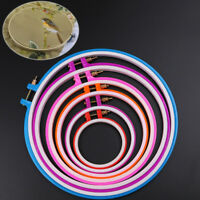 Plastic Cross Stitch Machine Embroidery Hoop Ring Sewing Frame 8-25cm