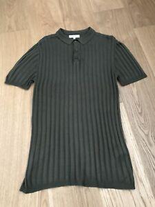 Mens RiverIsland Knitted Polo Shirt