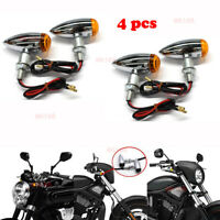 4 Chrome Motorcycle Turn Signal Lights For Harley Davidson XL Sportster 1200 883