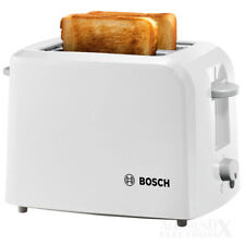 Toaster BOSCH TAT3A011 CompactClass 980 Watt, weiß Integrierter Brötchenaufsatz