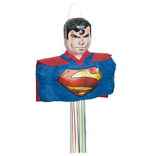 DC Comics Justice League Superman Children's 3d Character Pull Pinata Party Game