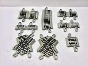 Bachmann HO Nickel Silver E-Z Track 12 Assorted Sections, Grey Roadbed