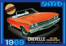 AMT 823 1969 Chevrolet Chevelle SS 396 Convertible Plastic Model Kit 1/25