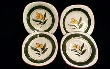 "4 Stangl Flower Buds 5 1/4"" Plates Pattern 3792"