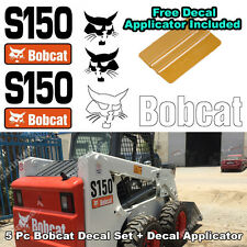 Bobcat S150 Skid Steer Set Vinyl Decal Sticker 5 PC SET + FREE DECAL APPLICATOR
