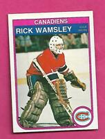 1982-83 OPC # 195  CANADIENS RICK WAMSLEY ROOKIE NRMT CARD (INV# C7498)