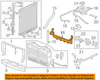 Chevrolet GM OEM 16-18 Camaro Radiator-Side Baffle Right 84027003