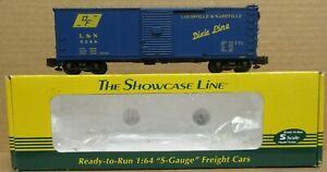 S-Helper Service 01022 L&N Boxcar #5048 S-Gauge w/Scale Wheels Incd NIB