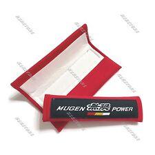 X2 MUGEN POWER Soft Fabric Car Seat Belt Cover Shoulder Cushion Pads For Honda