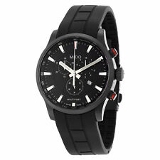 Mido Multifort Black PVD Rubber Strap Swiss Quartz Men's Watch M0054173705120