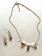 ALEXIS BITTAR Geometric Multi Stone Bib Crystal Necklace and Earrings