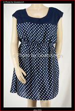 City Chic Navy Polka Dot Dress Size 18 (Medium) New Without Tags