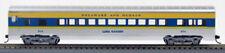 HO 72 Ft Pass. Coach Car, RTR Delaware & Hudson (Slv/Blu/Ylw) (1-900L)