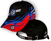 Volvo Noir Rouge Casquette 3D Brode Auto Logo Chapeau Baseball Cap Homme Femme