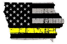 Iowa State (E16) Thin Yellow Line Dispatch Vinyl Decal Sticker Car/Truck Laptop