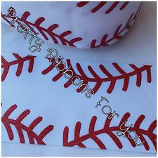 """Baseball Glitter 3"""" grosgrain ribbon the listing is for 2 yards"""