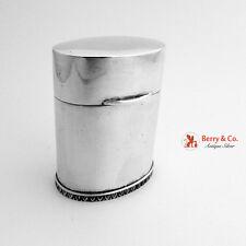 Oval Match Safe Box 800 Standard Silver