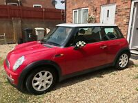 MINI COOPER HATCH 2001 1.6 3DR PETROL 2001 RED MANUAL