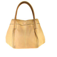 Auth Tod's Leather Tote Bag Beige 03GA297