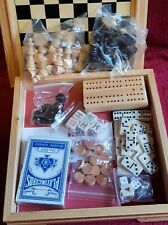 6 IN 1 TRAVEL GAME SET Checkers, Chess, Dominos, Backgammon, Cards, Cribbage