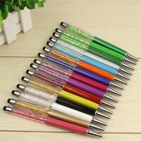 15 Colorful Crystal Pen Diamond Ballpoint Pens Stationery Ballpen Caneta Novelty