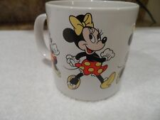 Minnie Mouse Coffee Mug Walt Disney Cup Running Red Dress Yellow Bow Korea