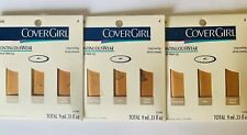 Lot of 3 CoverGirl Continuous Wear Natural Make Up Foundation Samples Dark 4