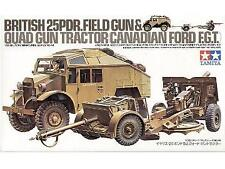 Tamiya 1/35 25pdr Field Gun & Quad Gun Tractor # 35044