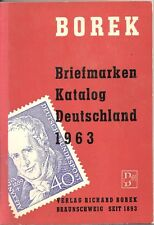 1963 Briefmarken Katalog Deutschland Stamp Value Book by Borek