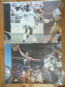 Ultra Rare SPORTS ILLUSTRATED 91102 Wall Hanging Poster PELE PETE MARAVICH