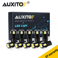 10X AUXITO T10 LED License Plate Light Car Interior Bulbs White 168 2825 194 W5W