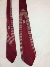 """1950's Vintage Arrow Necktie Burgundy Blue White Mid Century 1960s 3"""" wide Tie"""