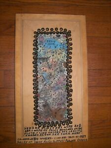 Howard Finster  Folk Art Outsider  Rare Wipe Rag