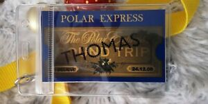 Polar Express Train Ticket ID with lanyard or clip PERSONALISED with childs name