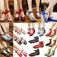 Traditional Cloth Women Chinese Oxford Sole Shoes Floral Embroidery Comfortable