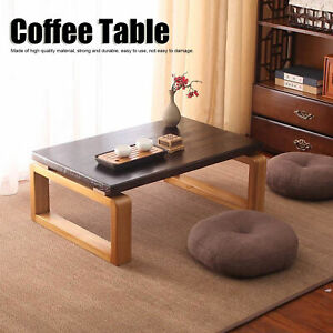 """23"""" Coffee Table Wood Tray Folding Leg Vintage Antique Japanese Style Furniture"""