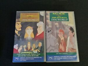 WYRD SISTERS FROM TERRY PRATCHETT'S DISCWORLD PART ONE & TWO - 2 X  VHS VIDEO'S
