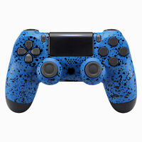 Textured Blue Faceplate Front Shell Replacement Kit for PS4 Pro Slim Controller