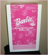 Barbie TWINKLE LIGHTS HOLIDAY Pink Fiber Optic Tree AVON Exclusive, 2002, NRFB!
