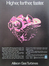 7/1976 PUB ALLISON GAS TURBINE GM DETROIT DIESEL 250 C20B HELICOPTER ORIGINAL AD