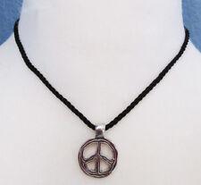 Lia Sophia Jewelry Peace Necklace in Silver