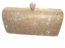 New Bling Silver Diamante Diamond Evening loop handle Clutch Party Bridal Prom