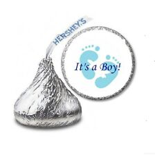 108 IT'S A BOY BABY SHOWER Party Favors Stickers Labels for Hershey Kiss