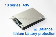 13S 48V Li-ion Lithium Cell 20A 18650 Battery Protection BMS PCB Board + Balance