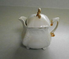 Bavarian Antique White & Gold Footed Porcelain German Fine China Creamer