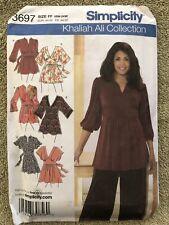 Khaliah Ali Simplicity 3697 Pattern  Women's Knit & Woven Tunics 18W-24W Uncut
